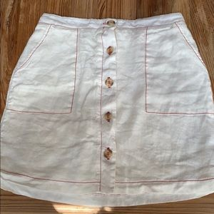 Amadi/Anthropologie white skirt